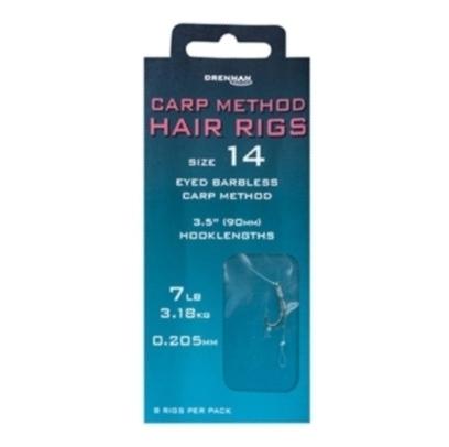 Drennan Carp Method Eyed Barbless Hair Rigs