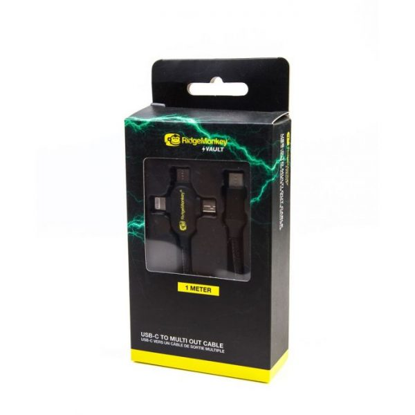 RidgeMonkey USB -C TO MULTI OUT CABLE
