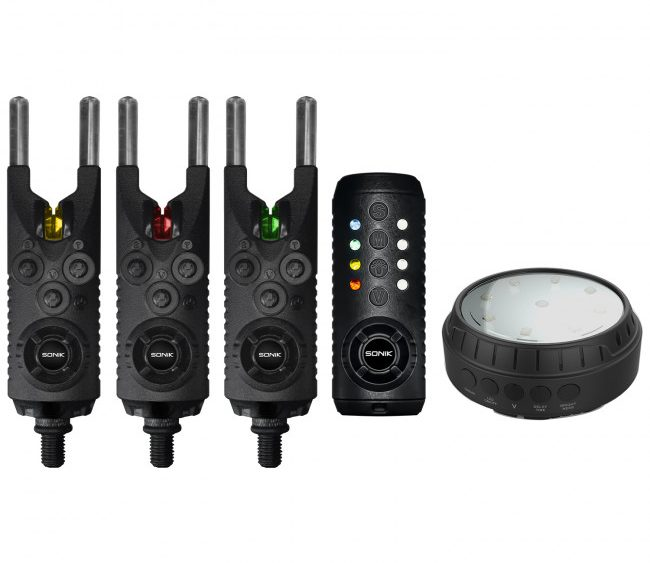 3+1 Single Blue 4 +1 Sonik Gizmo Alarm /& Receiver Set FREE Bivvy Light 2+1
